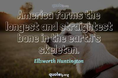 Photo Quote of America forms the longest and straightest bone in the earth's skeleton.