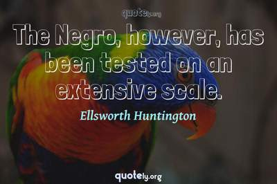 Photo Quote of The Negro, however, has been tested on an extensive scale.