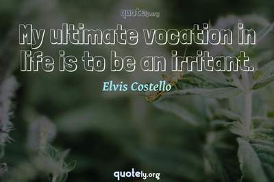 Photo Quote of My ultimate vocation in life is to be an irritant.