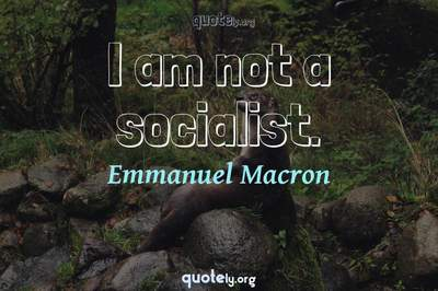 Photo Quote of I am not a socialist.