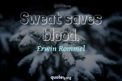 Photo Quote of Sweat saves blood.