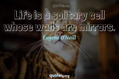 Photo Quote of Life is a solitary cell whose walls are mirrors.