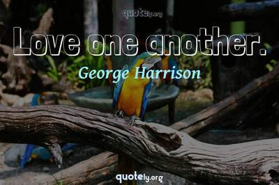 Photo Quote of Love one another.