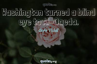 Photo Quote of Washington turned a blind eye to Al-Qaeda.