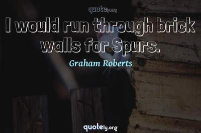 Photo Quote of I would run through brick walls for Spurs.