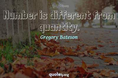 Photo Quote of Number is different from quantity.