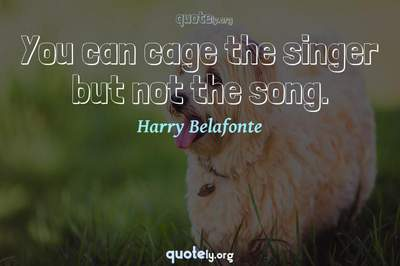 Photo Quote of You can cage the singer but not the song.