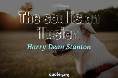 Photo Quote of The soul is an illusion.