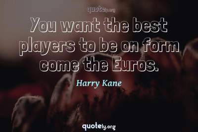 Photo Quote of You want the best players to be on form come the Euros.