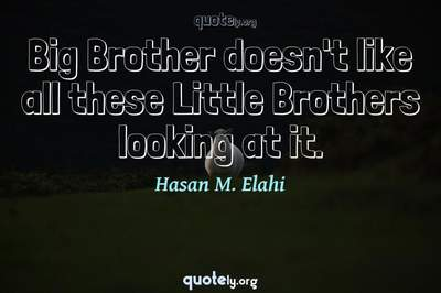 Photo Quote of Big Brother doesn't like all these Little Brothers looking at it.