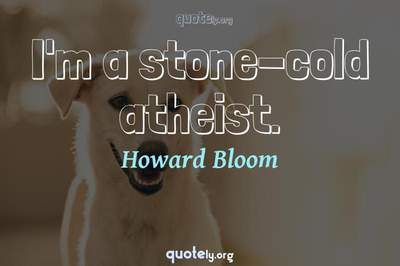 Photo Quote of I'm a stone-cold atheist.