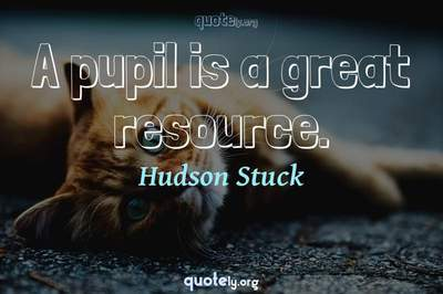 Photo Quote of A pupil is a great resource.