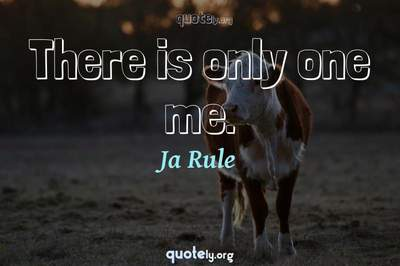 Photo Quote of There is only one me.