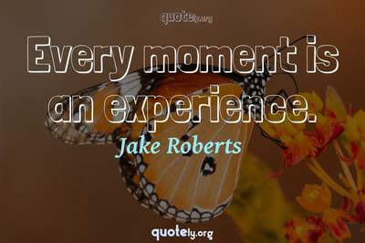 Photo Quote of Every moment is an experience.