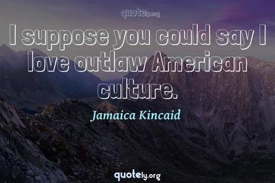 Photo Quote of I suppose you could say I love outlaw American culture.