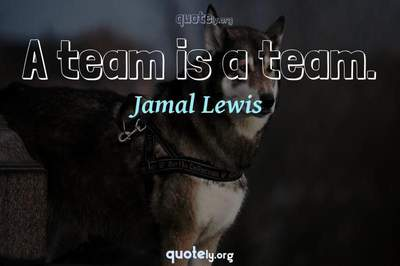 Photo Quote of A team is a team.