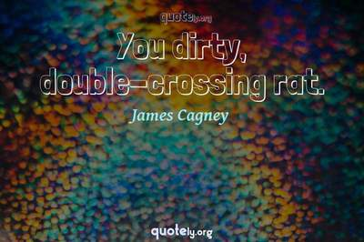 Photo Quote of You dirty, double-crossing rat.