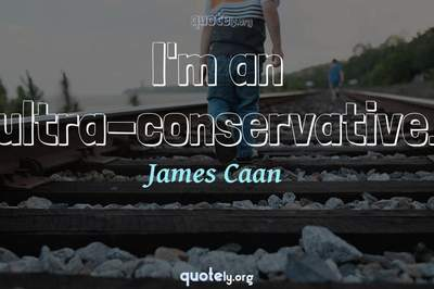 Photo Quote of I'm an ultra-conservative.