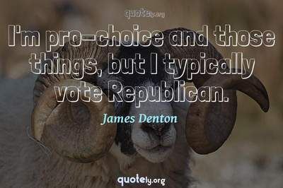 Photo Quote of I'm pro-choice and those things, but I typically vote Republican.