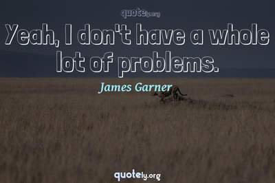 Photo Quote of Yeah, I don't have a whole lot of problems.