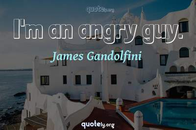 Photo Quote of I'm an angry guy.