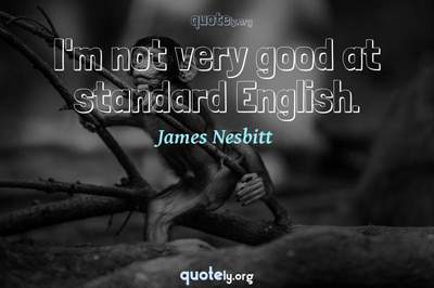 Photo Quote of I'm not very good at standard English.