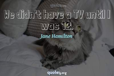 Photo Quote of We didn't have a TV until I was 12.