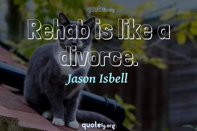 Photo Quote of Rehab is like a divorce.