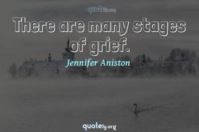 Photo Quote of There are many stages of grief.