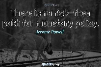Photo Quote of There is no risk-free path for monetary policy.