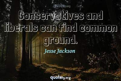 Photo Quote of Conservatives and liberals can find common ground.