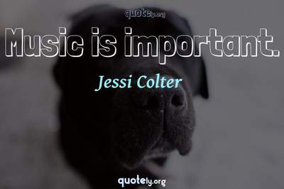 Photo Quote of Music is important.