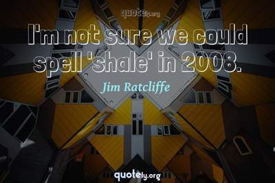 Photo Quote of I'm not sure we could spell 'shale' in 2008.