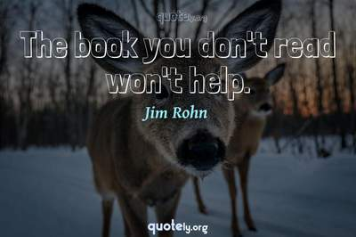 Photo Quote of The book you don't read won't help.