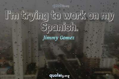 Photo Quote of I'm trying to work on my Spanish.