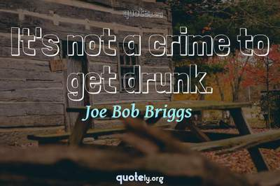 Photo Quote of It's not a crime to get drunk.