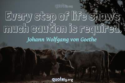 Photo Quote of Every step of life shows much caution is required.