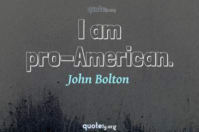 Photo Quote of I am pro-American.