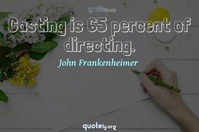 Photo Quote of Casting is 65 percent of directing.