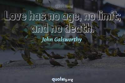 Photo Quote of Love has no age, no limit; and no death.