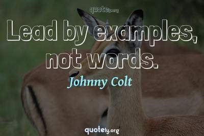 Photo Quote of Lead by examples, not words.