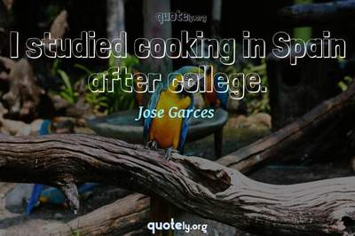 Photo Quote of I studied cooking in Spain after college.
