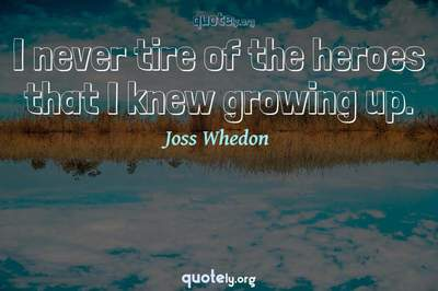 Photo Quote of I never tire of the heroes that I knew growing up.
