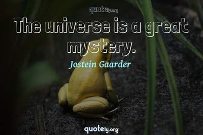 Photo Quote of The universe is a great mystery.