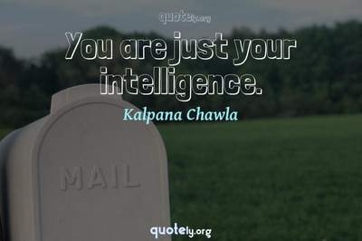 Photo Quote of You are just your intelligence.