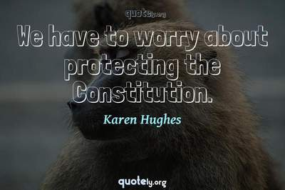 Photo Quote of We have to worry about protecting the Constitution.
