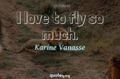 Photo Quote of I love to fly so much.