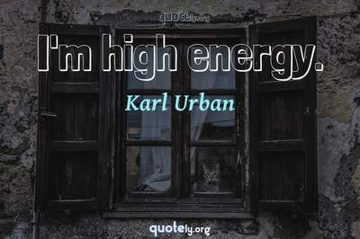 Photo Quote of I'm high energy.