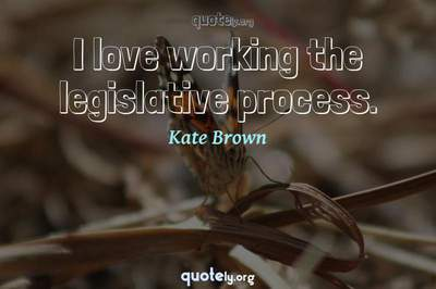 Photo Quote of I love working the legislative process.