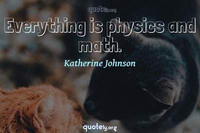 Photo Quote of Everything is physics and math.